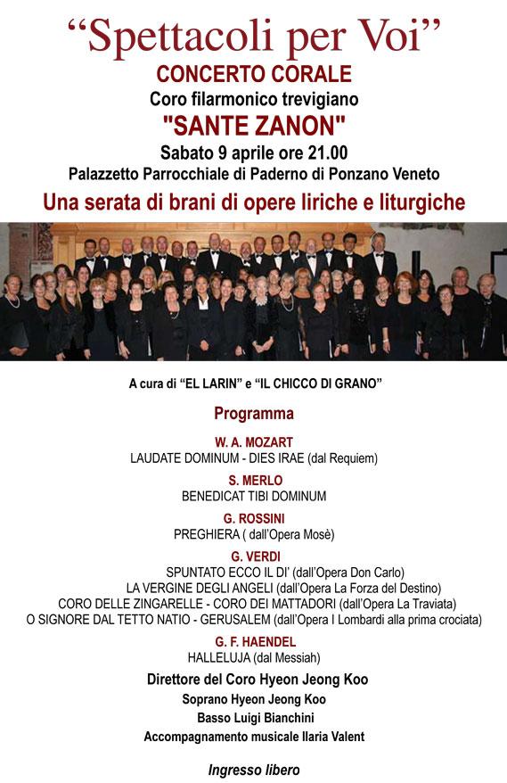 Coro Sante Zanon - Concerto Paderno di Ponzano