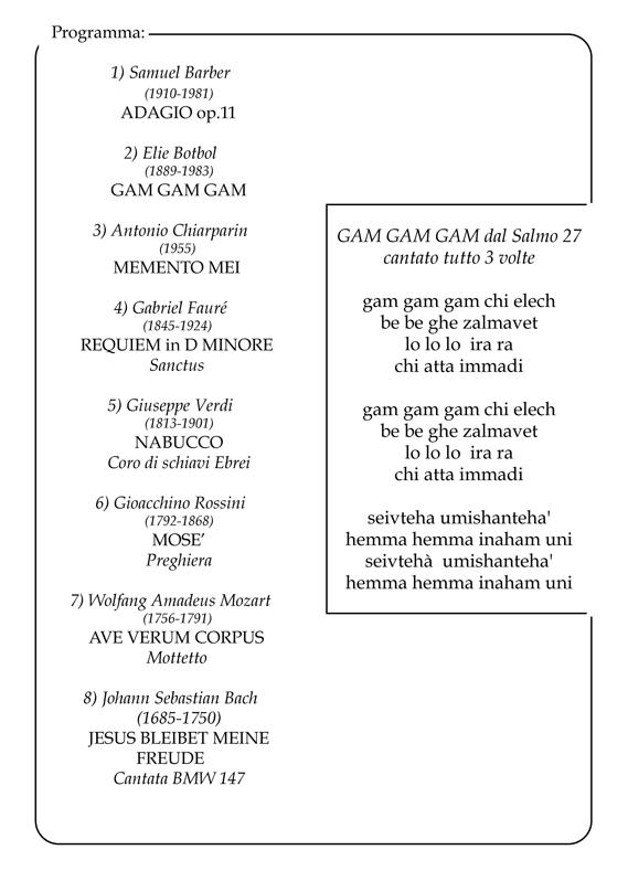 Coro Sante Zanon - Concerto 27-01-2017