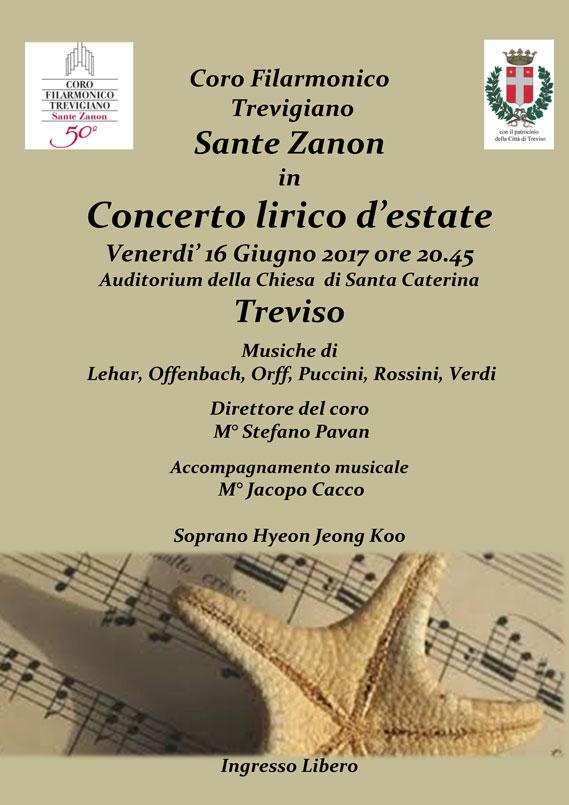 Coro Sante Zanon - Concerto lirico d'estate 6 giugno 2017